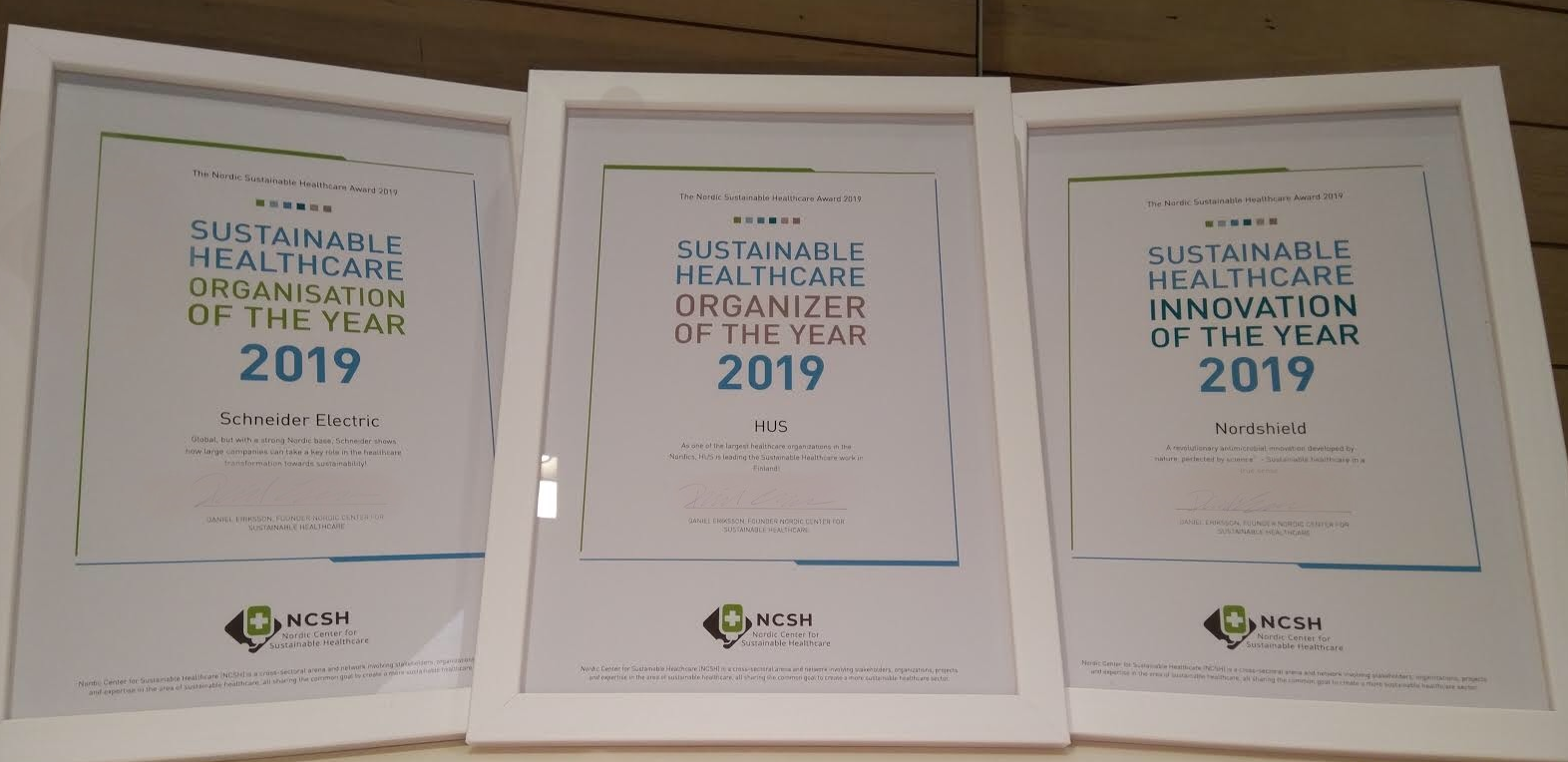 Winners - The Nordic Sustainable Healthcare Awards 2019